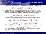 leakage probability