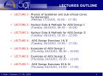 lectures outline