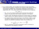 material and geometric bucklings1