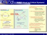 sub critical vs critical systems