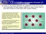 the spallation process 2