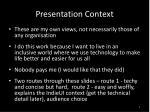 presentation context