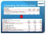 expanding the balance sheet1
