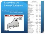 expanding the income statement3