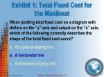 exhibit 1 total fixed cost for the maxiboat1