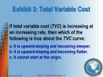 exhibit 3 total variable cost