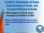 exhibit 8 economies of scale diseconomies of scale and constant returns to scale2
