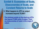exhibit 8 economies of scale diseconomies of scale and constant returns to scale3