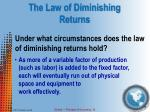 the law of diminishing returns1