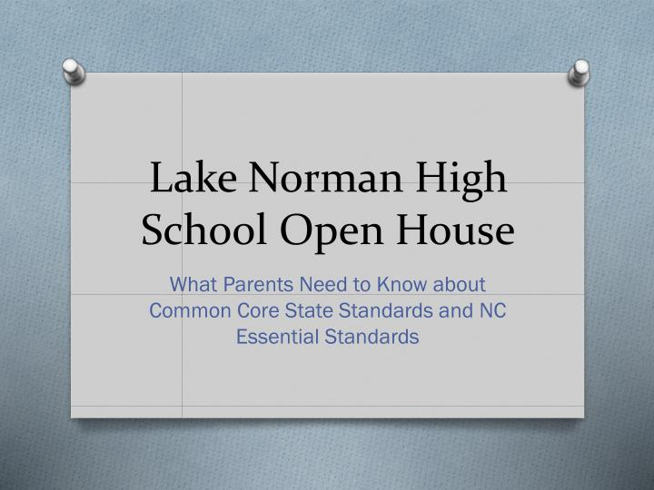lake norman high school open house n.