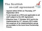 the scottish on call agreement