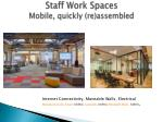 staff work spaces m obile quickly re assembled