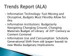 trends report ala