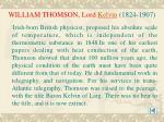 william thomson lord kelvin 1824 1907