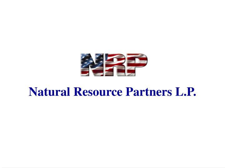 Natural Resource Partners L.P.