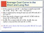 average cost curve in the short and long run1