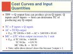 cost curves and input quantities1