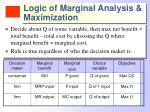 logic of marginal analysis maximization1
