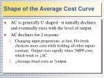 shape of the average cost curve