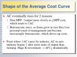 shape of the average cost curve1