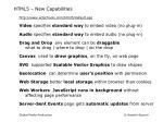 html5 new capabilities