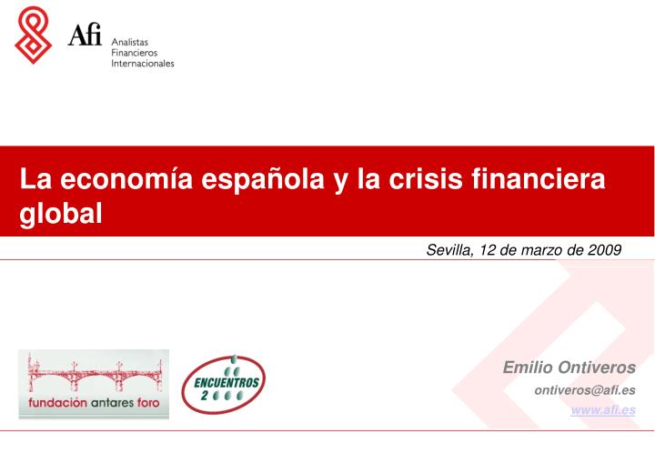 la econom a espa ola y la crisis financiera global n.