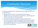 constitution objectives