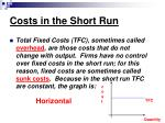 costs in the short run4