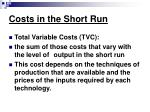 costs in the short run6
