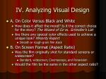 iv analyzing visual design