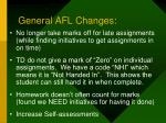 general afl changes1