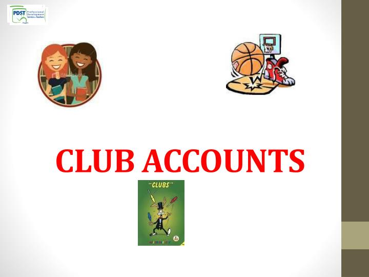 club accounts n.