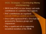 sigs strategies contributing money electioneering