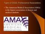 types of sigs professional associations1