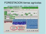 forestacion tierras agr colas primeros expediente 1995 ltimos expedientes 2025
