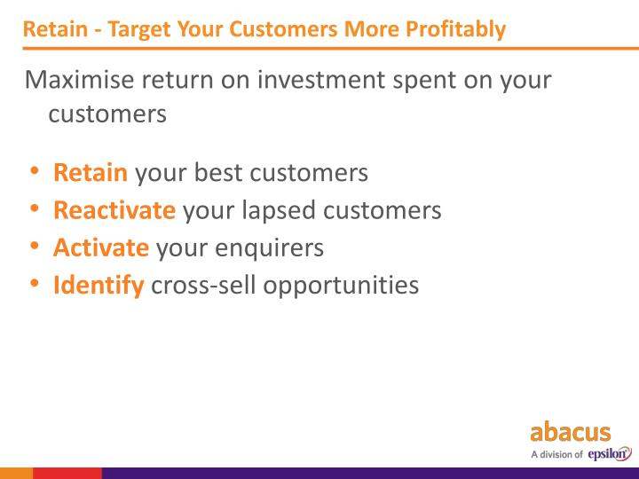 Retain - Target Your
