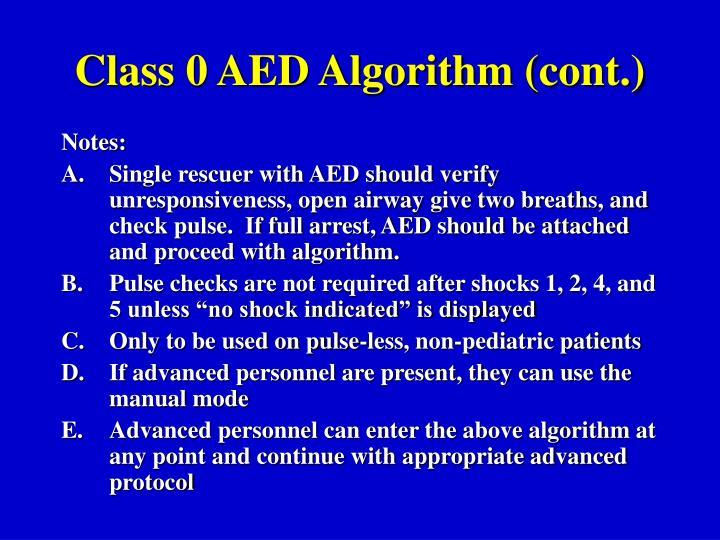Class 0 AED Algorithm (cont.)