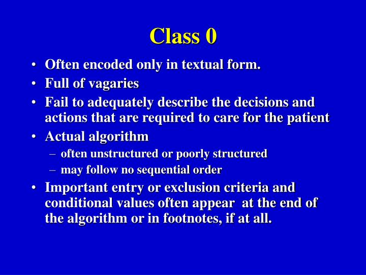 Class 0