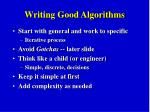 writing good algorithms