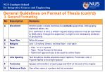 general guidelines on format of thesis cont d