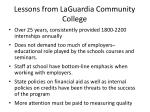 lessons from laguardia community college