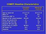 comet baseline characteristics