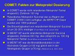 comet fakten zur metoprolol dosierung