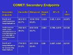 comet secondary endpoints
