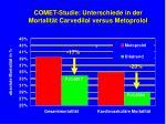 comet studie unterschiede in der mortalit t carvedilol versus metoprolol