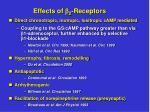 effects of 2 receptors
