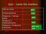 quiz name the markers