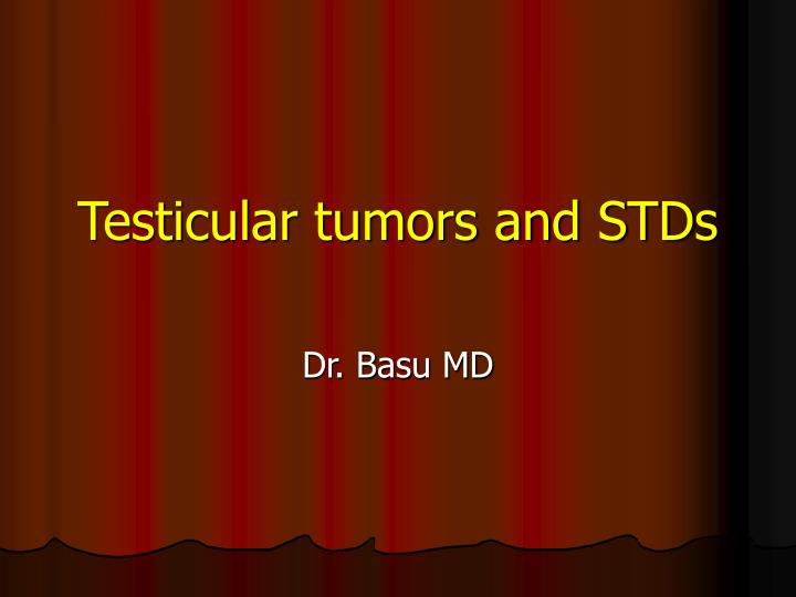 testicular tumors and stds n.