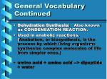 general vocabulary continued