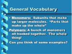 general vocabulary